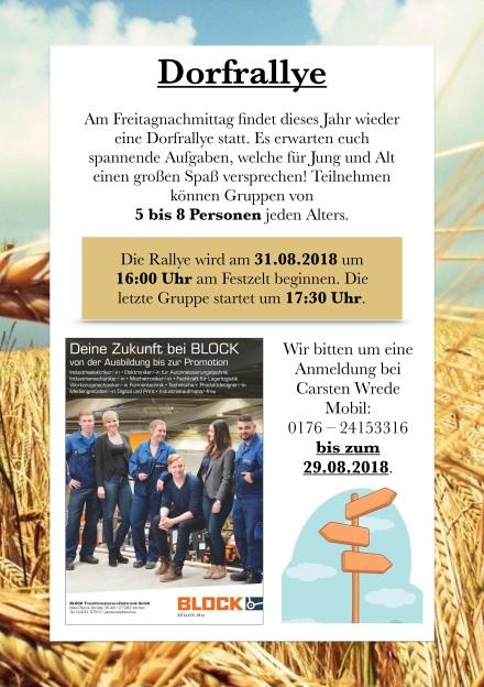 Erntefest 2018 Dorfrallye