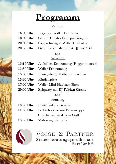 Erntefest 2018 Programm
